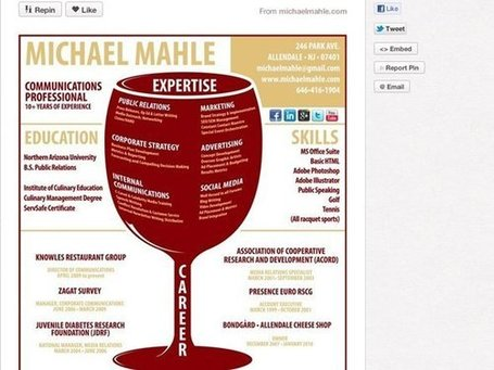 7 Cool Resumes We Found On Pinterest -- New App for Visual Storytelling | Just Story It | Scoop.it