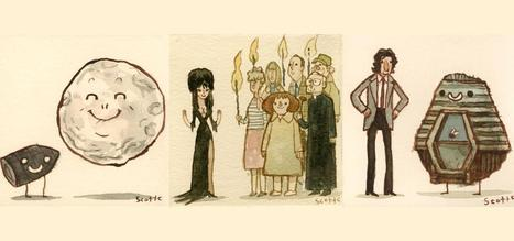 Stellar Illustrations of Movies by Scott Campbell #art #design | Pop Culture Ninja | Scoop.it