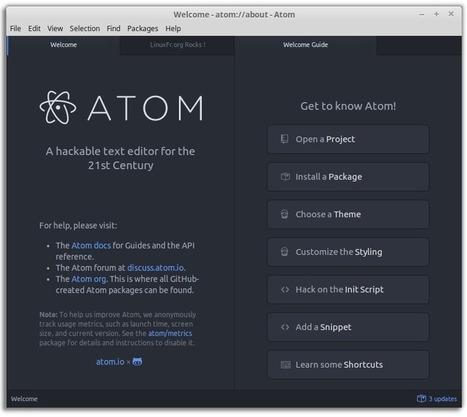 Atom 1.0.x : l'autre éditeur de code - LinuxFr.org | IT & Dev | Scoop.it