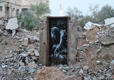 Clic France / Le street-artiste Bansky publie sur Instagram des œuvres réalisées dans la bande de Gaza   Clic France   Scoop.it