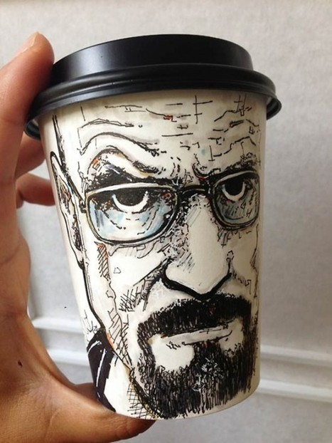 Miguel Cardona's Disposable Cup Art | Strange days indeed... | Scoop.it