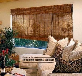 Bamboo curtains for window coverings in interior living room | living room design | Scoop.it