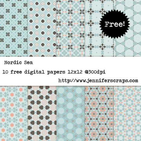 Nordic Sea - Free Digital Paper Pack | Free Digital Scraps | Scoop.it
