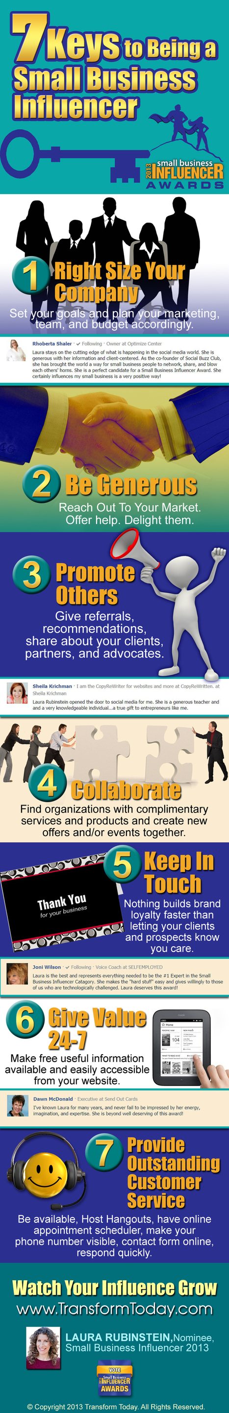 7 Keys To Being A Small Business Influencer [Infographic] - Transform Today | Business Resources & Tips | Scoop.it