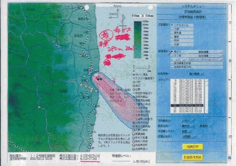 TEPCO Releases Fukushima Daiichi – Original Emission Forecast Map (reported on Mar. 12 and 13) | Enformable | Mapping & participating: Fukushima radiation maps | Scoop.it