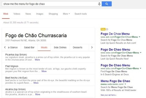 Google Adds Full Restaurant Menus To Its Search Results Pages | MarketingHits | Scoop.it