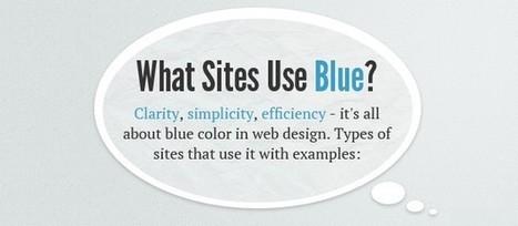 [Infographie] Le pouvoir des couleurs en Web Design : Le Bleu | creation de sites web | Scoop.it