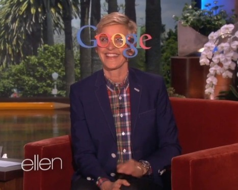 "Ellen Tries Out Google ""Glasses"" 