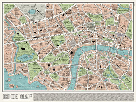 Explore – This literary map of London by UK design outfit... | Mapping | Scoop.it