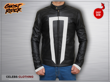 Cyber Monday Special - Ghost Rider Agents Of Shield Jacket | celebrities Leather Jackets | Scoop.it