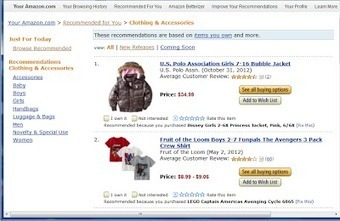 About Data Mining: Product Recommendation by Amazon   Ecommerce & Big Data   Scoop.it