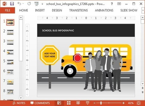 School Bus Animated PowerPoint Template | PowerPoint presentations and PPT templates | Scoop.it