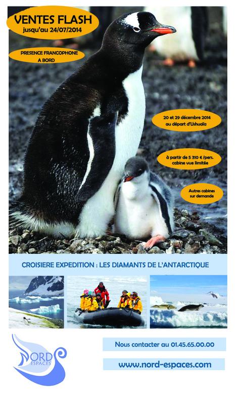 VENTES FLASH CROISIERES ANTARCTIQUE - 01.45.65.00.00 | Nord Espaces - Borealis voyages - Terres boréales | Scoop.it