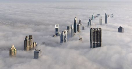 The Dubai Skyline In The Fog | Geography Education | Scoop.it