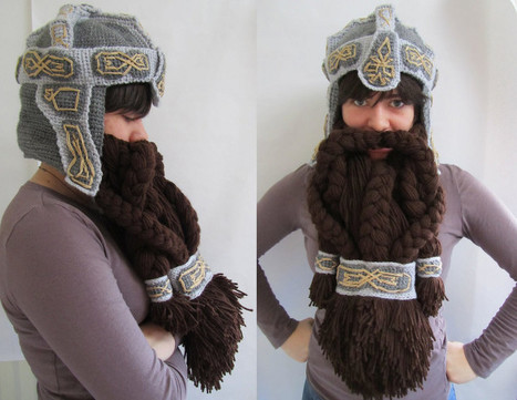 Lord of the Rings Crochet Dwarf Beard Helmet: Facewarming, Medieval Style | Internet Nation | Scoop.it