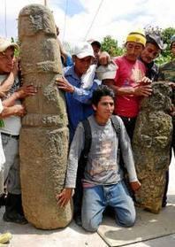 Comuneros hallan dos tótems en montañas de Santa Elena | historian: science and earth | Scoop.it