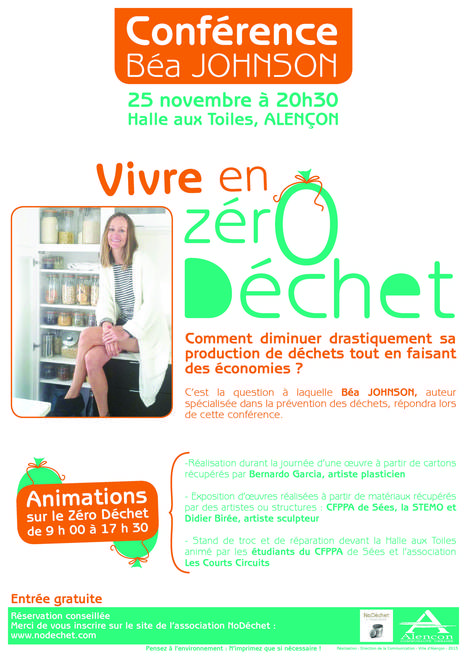 Conférence Zéro déchet Béa Johnson, 25 novembre 2015, Alençon | DD Haute-Normandie | Scoop.it