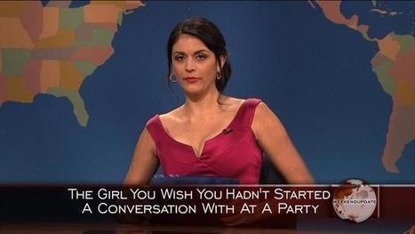 Weekend Update: Girl You Wish You Hadn't Started a Conversation With at a Party - Christmas | Video | Saturday Night Live | NBC | How to Become the Next Tina Fey | Scoop.it