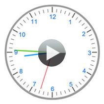Une horloge interactive pour apprendre l'heure | Moisson sur la toile: sélection à partager! | Scoop.it