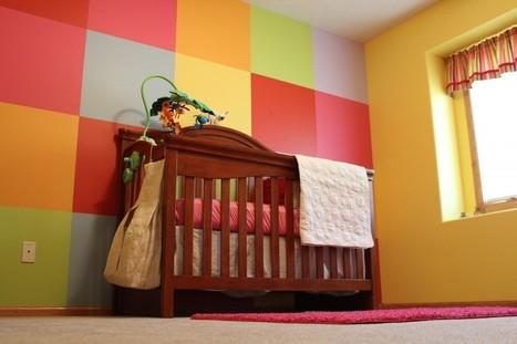Checkered Nursery Room Wall Idea   Baby Room Ideas 2012   NURSERY   Scoop.it