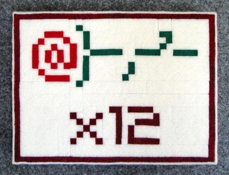 ASCII Dozen Roses, 6 x 8 Felt Collage | ASCII Art | Scoop.it