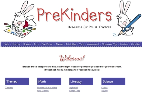 PreKinders: Website for Pre-K & Preschool Teachers | Educacioaunclic | Scoop.it