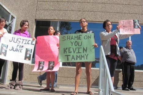 Angry relatives protest at Regina bail hearing for Kevin Goforth   News Talk 650 CKOM   Tasers and Drones: Abuse of power in law, justice, and national security   Scoop.it