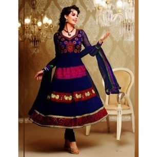Fia Navy Blue Anarkali Churidar Kameez with Dupatta-8164 | Buy online Shopping in India Apparel, Watches, Sunglasses | Scoop.it