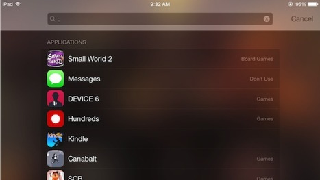 List All Your Installed iOS Apps in Spotlight with a Period | Ed Tech | Scoop.it