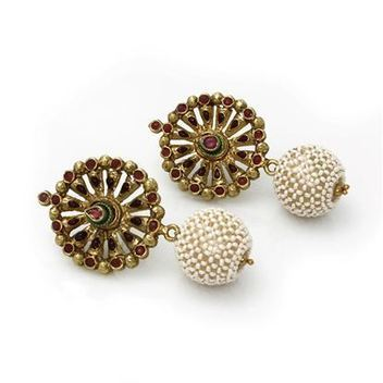Polki earrings - Indian jewellery online | Indian Jewelry Online | Scoop.it