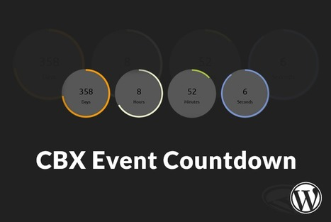 CBX Flexible Event Countdown for Wordpress | Wordpress | Scoop.it