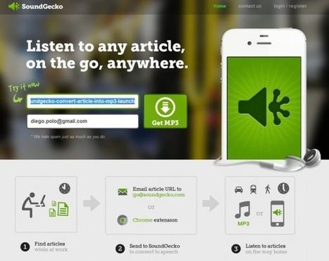 Herramientas: Transforma artículos de texto en archivos mp3 con Soundgecko | HERRAMIENTAS EDUCATIVAS | Scoop.it