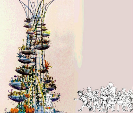 Botanical Tower Concept Is A Community Garden You Can Climb - EarthTechling | Vertical Farm - Food Factory | Scoop.it