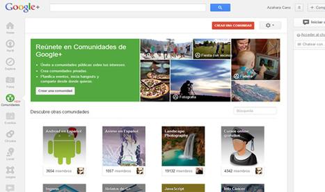 Bienvenidos a las Comunidades de Google Plus   Prionomy   Scoop.it