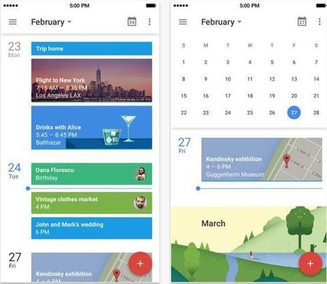Google propose une nouvelle version de son agenda pour iPhone - Les Outils Google | Geeks | Scoop.it