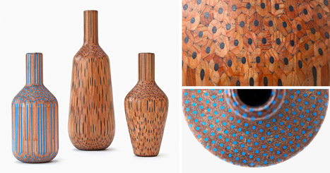 Vases Constructed from Hundreds of Pencils by Studio Markunpoika | Culture and Fun - Art | Scoop.it