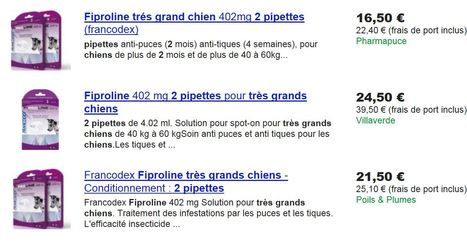 Pharmapuce propose le meilleur prix pour le fiproline très grand chien  2 pipettes sur google shopping   CaniCatNews-actualité   Scoop.it
