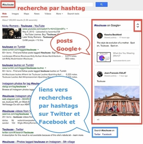 Google lance la recherche par hashtag et met en avant Google+ | SEO - REFERENCEMENTS | Scoop.it