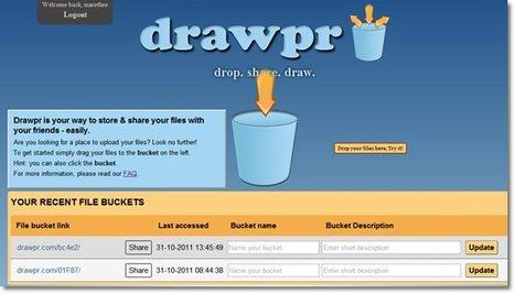 Sauvegarde de fichier en ligne sans limite d'espace de stockage Drawpr.com | Time to Learn | Scoop.it