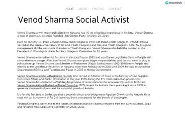 Social Activitist Venod Sharma from Ambala | Haryana Politics | Scoop.it