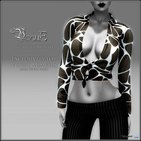 Retro Top March 2016 Group Gift By VoguE | Teleport Hub - Second Life Freebies | Second Life Freebies | Scoop.it