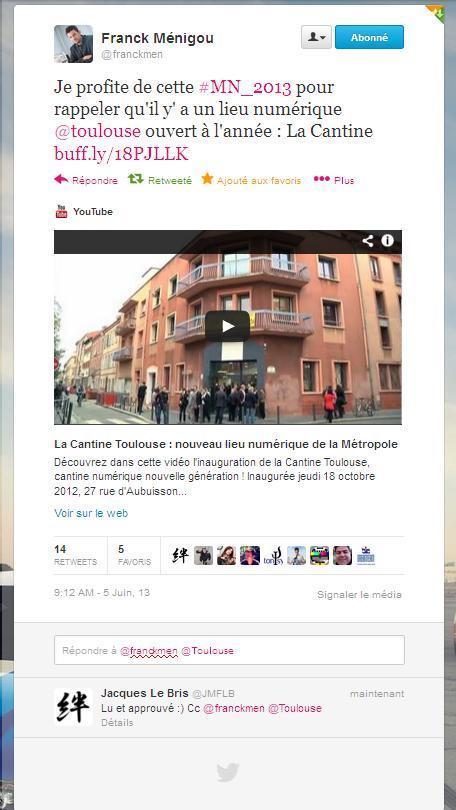 Franckmen profite de cette #MN_2013 ... | La Cantine Toulouse | Scoop.it