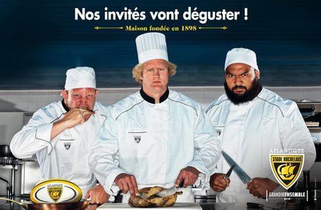 Le Stade Rochelais mélange rugby et gastronomie dans sa campagne de communication | promotion marketing | Scoop.it