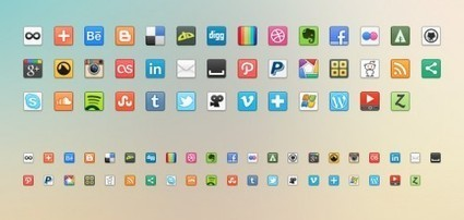 41 Free Social MediaNetworking Icons (PNG) | Web Dev News | Scoop.it
