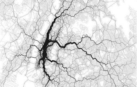 Map of 10000 Tweets Shows New York City at Work - Mashable | cartography & mapping | Scoop.it