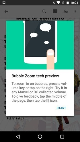 Google introduces Bubble Zoom preview for an easier comic book reading experience in Play Books [APK Download] | Comic Book Trends | Scoop.it