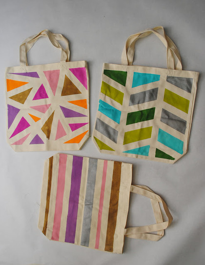 Collect & Carry: DIY: Geometric Painted Tote Bags   Market Day Ideas   Scoop.it