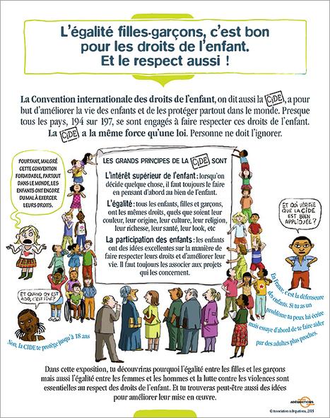 L'exposition « L'égalité filles-garçons, c'est bon pour les droits de l'enfant. Et le respect aussi ! » - Site de l'Association Adéquations | EuroMed égalité hommes-femmes | Scoop.it