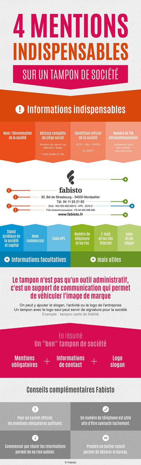 Infographie: Quelles infos sur votre tampon de société? | Monter son business | Entrepreneurs du Web | Scoop.it