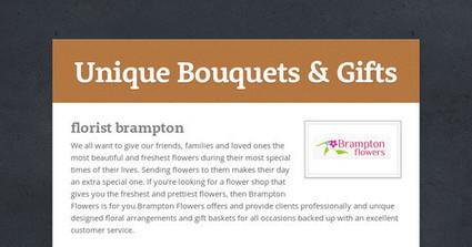 Unique Bouquets & Gifts   Unique Bouquets & Gifts   Scoop.it